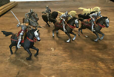Charging Mounted Knights & Horses '50s/60s Britains Herald? & Marx? GREAT DETAIL