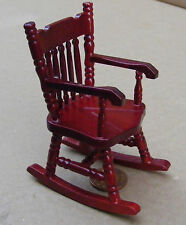 1:12 Scale Rocking Chair With A Wooden Seat Doll House Miniature Furniture