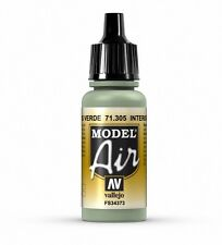 VALLEJO AIRBRUSH PAINT - MODEL AIR - INTERIOR GREY GREEN 17ML - 71.305