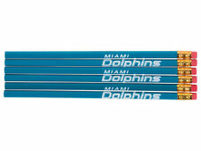 "Miami Dolphins 6 Pack Pencils 7.5"" X .25"" by National Design"