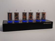 Unique Nixie Clock with 6x Z566M large tubes blue LED steampunk cold war IN-18