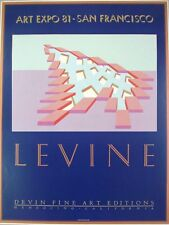 Charles Levine print -83x63cm- vintage art expo original poster. abstract poster