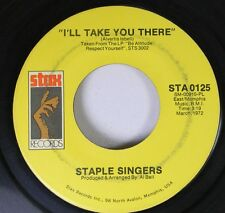 Soul 45 Staple Singers - I'Ll Take You There / I'M Just Another Soldier On Stax