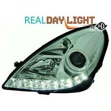 LHD Projector LED DRL Headlights Pair Clear Chrome Mercedes SLK R171 04-11