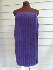 Purple Cotton Towel Spa Wrap,  100% Cotton Terry Shower Body Bath Wrap Towel