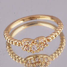 Womens Clear Crystal Claw Free Shipping Gold Filled Rings Size 6 (US)