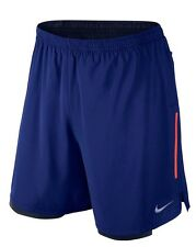 "Nike 7"" Phenom 2-in-1 Men's SIZE M MD Running Shorts Deep Royal Blue 683279 455"