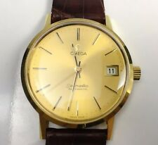 Vintage 18K Yellow Gold RARE Omega Seamaster Automatic Watch NEW OLD STOCK