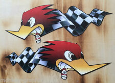 2er Bigsize Retro Aufkleber Sticker US Cars V8 Ratrod Auto Rod Oldschool Tuning