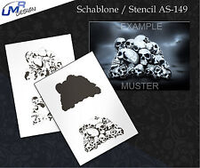Step by Step Airbrush Stencil AS-149 M ~ Template ~ UMR-Design