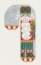 SP.ORDER ~ LG. Nutcracker Candy Cane HP Needlepoint Canvas & Stitch Guide Danji