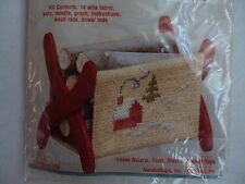 NMI Stitch 'N Stand FIREWOOD RACK SNOW SCENE Counted Cross Stitch Kit #512