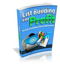 List Building For Profit Ebook On CD $5.95 Plus Resale Rights Free Shipping