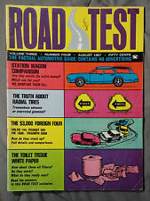 ROAD TEST CAR MAGAZINE 1967 AUGUST STATION WAGON TRIUMPH VW VOLVO PEUGOT TIRES