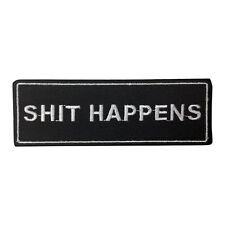 S Happens Patch Embroidered Iron on Patch Punk Patches