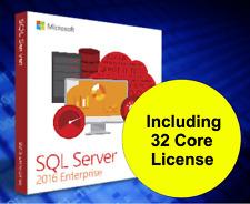 Brand New - Microsoft SQL Server 2016 Enterprise Edition and 32 Core License