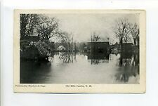 Candia NH Old Mill, buildings on water, antique postcard