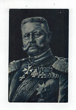 Original Mint color picture postcard Germany General Paul Von Hindenburg Uniform