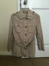 New Authentic Beige Quilted BURBERRY Jacket Coat XS S 36