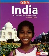 India: A Question and Answer Book (Questions and Answers: Countries)-ExLibrary