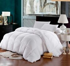 1200TC FULL DOUBLE GOOSE DOWN ALTERNATIVE Comforter White SOLID Egyptian Cotton