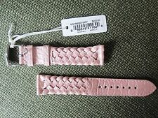 Michele 18mm Barely Pink Woven Alligator strap MS18BQ010657