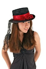 SteamPunk, Vampire, COSPLAY Victorian Gothic Rose Top Hat, NEW UNUSED
