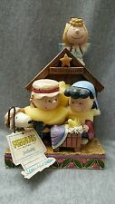 """The Christmas Play"" Peanuts Nativity ~Jim Shore Peanuts~ charlie Brown snoopy"