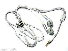 New Necklace Headphones Earphones 2.5mm White (built-In earphones on lanyard)