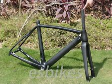 Carbon Matt Glossy Road Bike Frame Fork Clamp 50 52 54 56cm Disc brake BSA BB30