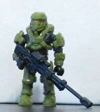 HALO RECRUIT SPARTAN green from Fireteam Taurus w/ sniper rifle Mega Bloks 1297