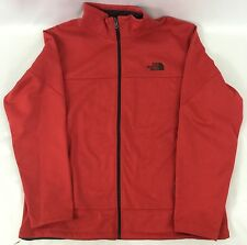 The North Face Men's Canyonwall Jacket WindWall Full Zip Red Heather Size XL