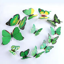 Art Decal Home Room Wall Stickers 3D Butterfly Sticker Decorations Decor 12pcs G