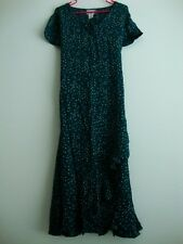 April Cornell Green Dress New L Large Vintage Romantic Victorian Dot Teal NWT