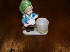 Vintage 1978 Jasco Little Drummer Boy Christmas Luvkins Candle Holder Rare