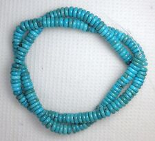 """6 mm Rondelle Ble Chinese Turquoise Beads Natural  """"Hobi"""" Craft Jewelry  Lot 1AA"""