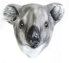 Koala Bear Latex Mask Australia Outback Animal Fancy Dress Australian Kangaroo