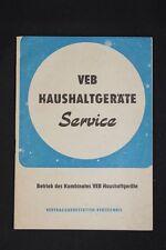 Alte DDR Verzeichnis Werkstätten VEB Haushaltsgeräte Geräte Haushalt