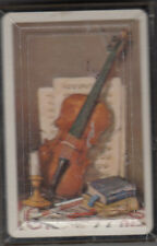 AARCO VIOLIN PLAYING CARDS PRE 1965 in PLASTIC CASE by AMERICAN GREETINGS