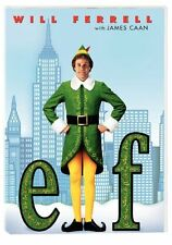 Elf  DVD Will Ferrell, James Caan, Bob Newhart, Zooey Deschanel, Edward Asner