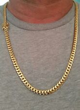 """14K Miami Cuban Link Chain Solid Gold, 25"""" 6 MM 65 Grams"""