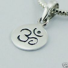 USA Seller Om Symbol Pendant Sterling Silver 925 Plain Best Price Jewelry Gift