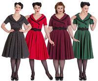 Hell Bunny Dress Mimi 40s 50s Rockabilly Swing Retro Polka Dot Vintage Tea Party