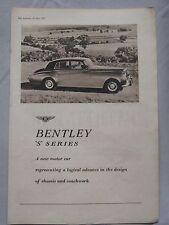 1955 Bentley 'S' series Original advert No.2