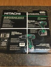 NEW Hitachi 18V Brushless Hammer Drill + Impact Driver Kit FAST SHIP! KC18DBFL
