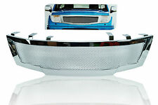 Front Chrome Net Grill Grille For Nissan Frontier Navara 2-4D D40 2005 2006 2009