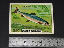 CHROMO 1936 CAFES GILBERT POISSONS RIVIERE FISH FISCH FISCHE SAUMON POISSON