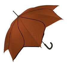 Blooming Brollies Swirl Auto Stick Umbrella - Rust