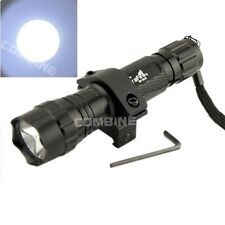 Ultrafire 501B 2000LM CREE T6 LED 20mm Mount Tactical Flashlight Hunting Light