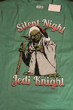 Star wars Yoda Silent Night Jedi Knight mens XL t shirt Christmas NWT green